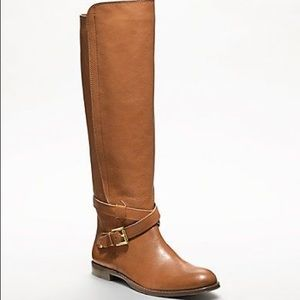 Coach leather knee high boots